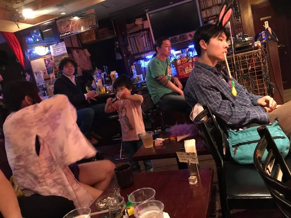 「ダブルひんでん」(「ひんでんさんの妄想の世界」)。2017/04/29 土・祝。ドドコ&ふくおかかつひこ企画「東京クレイジークレイジーワロタ」@新宿御苑Ruto