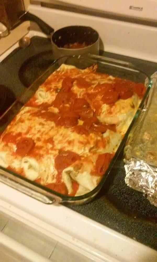 Homemade No-fire Chicken Enchiladas