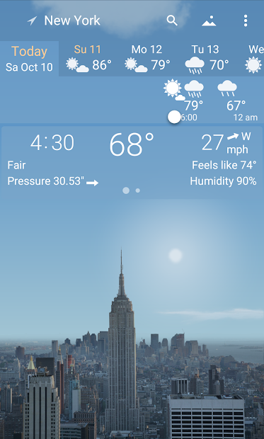 YoWindow - best weather app with live pictures Android App Screenshot