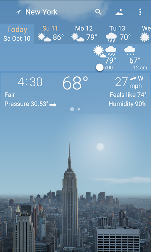 Awesome Weather YoWindow - Live Wallpaper, Widgets Android App Screenshot