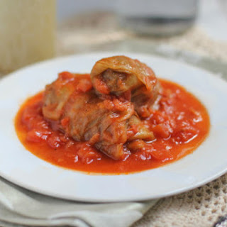 Passover Stuffed Cabbage Rolls.