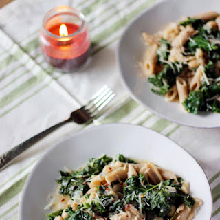 Whole Wheat Penne with Kale and White Beans
