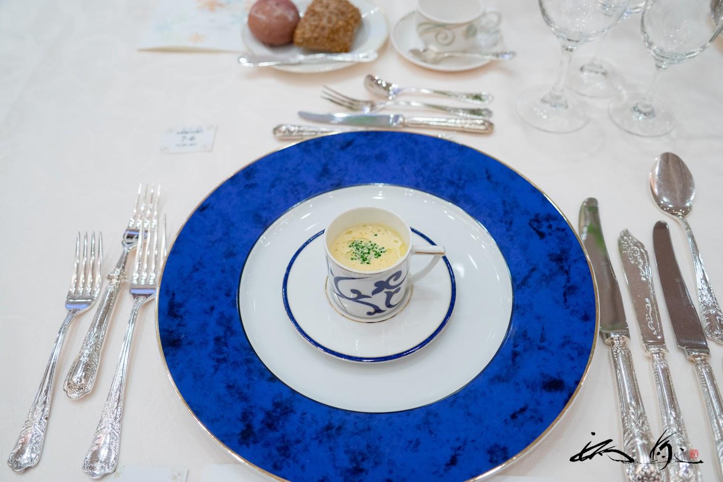 牡蠣のフラン ウニとサフランの香り