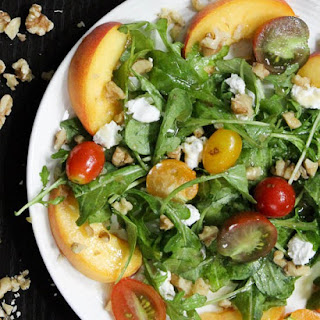 Paleo Arugula Peach Salad