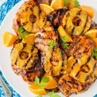 Orange Barbecue Grilled Chicken.