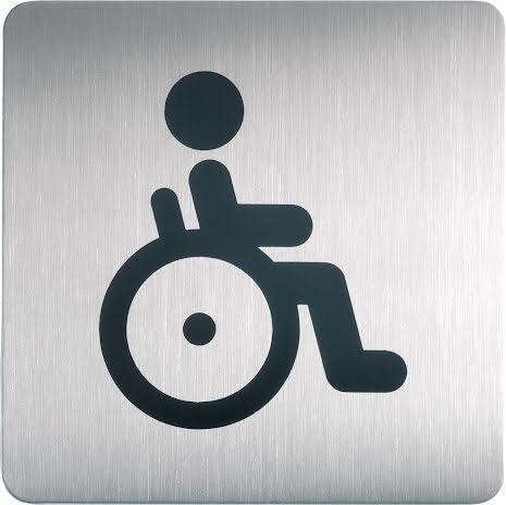Symbolskylt WC handikapp