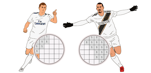 Pixel Art Soccer Players is the best free coloring app for adults and kids.
