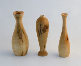 "Photo: Gary Guenther - Trio of Weedpots - 1""-2"" x 6.5"" - Maple"