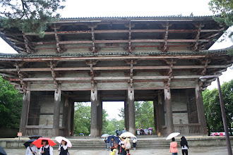 Photo: Temple enterance, one of the oldest buildings in Japan