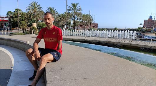 Jairo Ruiz presume de Almería antes de los Juegos