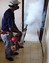 Photo: fumigating for mosquitos, cuba. Tracey Eaton photo