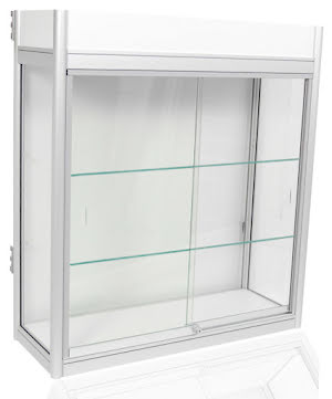 Beg. Glasmonter 90x33x1 2 hyllor