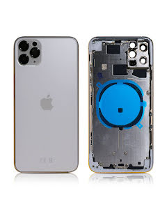 iPhone 11 Pro Max Housing without small parts HQ Silver