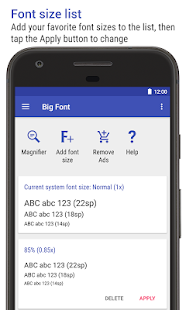 Big Font (change font size & display size) Screenshot