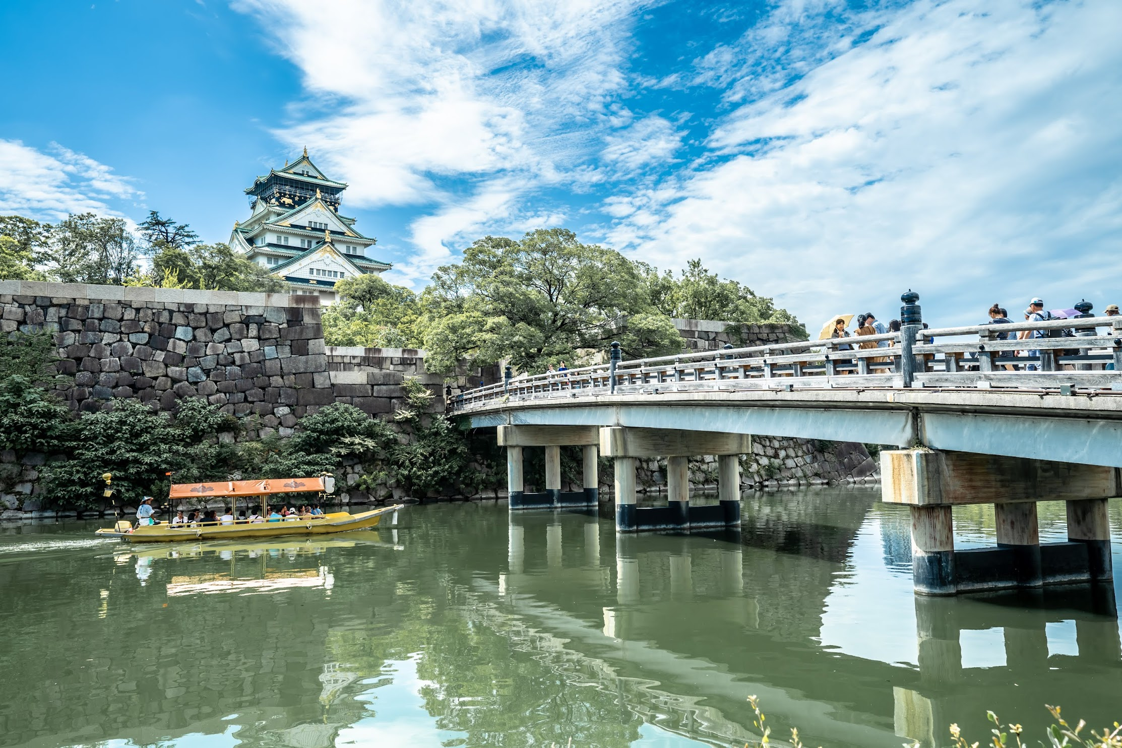 Osaka Castle Gokuraku Bridge Gozabune (御座船)1