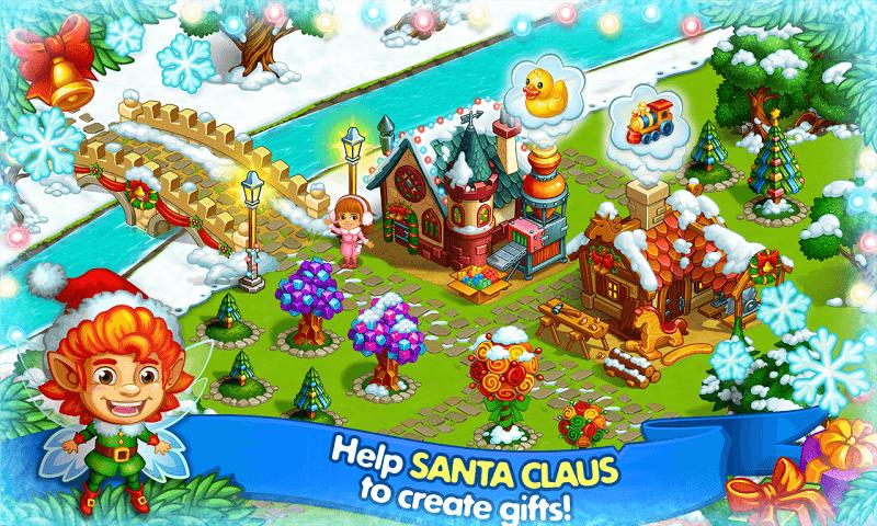 Farm Snow: Happy Christmas Story With Toys & Santa Screenshot 4