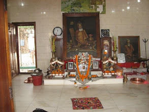 Photo: The picture of Baba Lokenath in the shrine of the main temple (as captioned in the previous picture) that is worshipped daily with detailed rituals