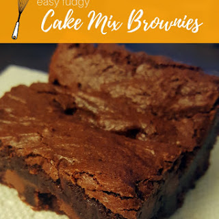 Fudgy Cake Mix Brownies Recipe