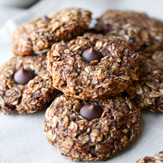 No Bake Oatmeal Cookies (Healthier)