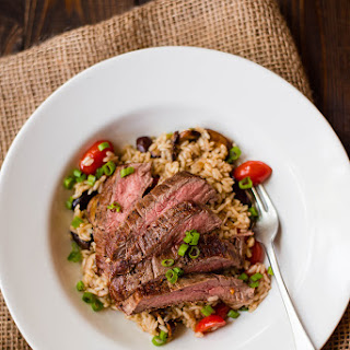 Brown Rice Pilaf With Flank Steak
