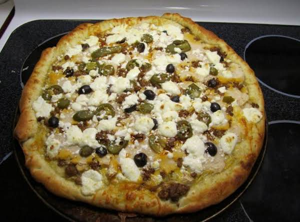 Super Yummy Taco Pizza. Recipe