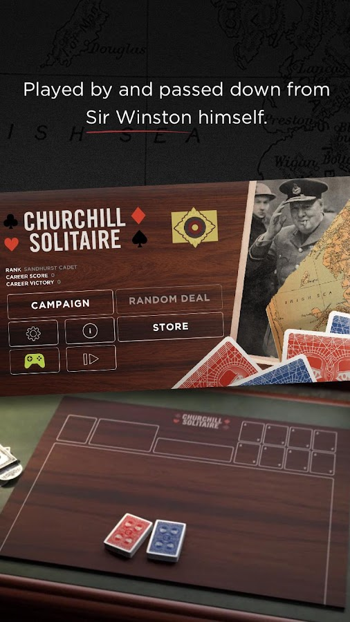 Churchill Solitaire Card Game – zrzut ekranu