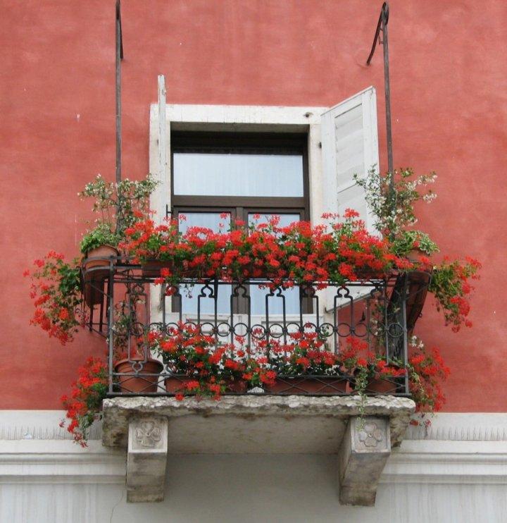 Rosso balcone di luciaberti