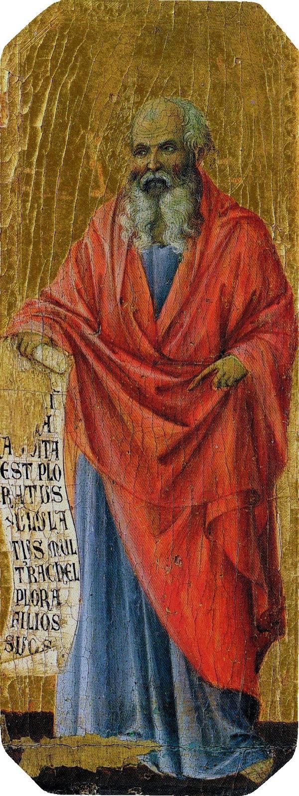 Duccio di Buoninsegna, Predella della Maestà, Sogno di Giuseppe e fuga in Egitto