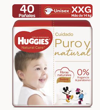 Pañales Huggies Natural Care Etapa 5/XXG x 40Uni