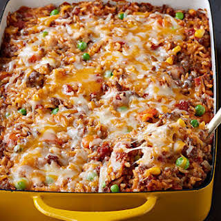 Mexican Beef & Rice Casserole.