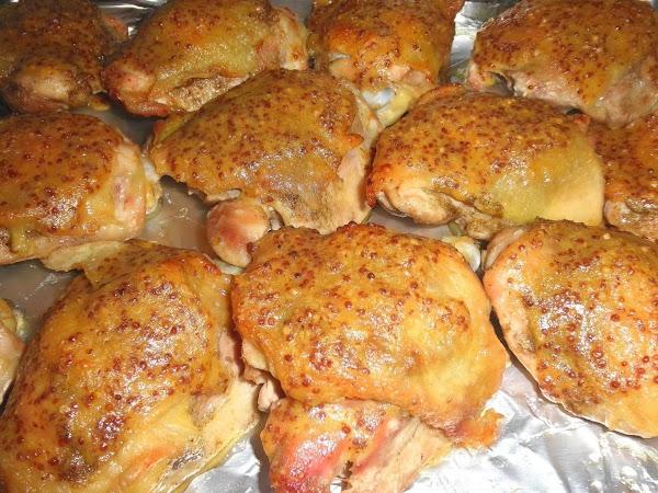 Herbed Chicken Thighs With Honey Mustard Glaze Recipe