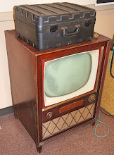 Photo: Remember console TVs? And what is that on top?