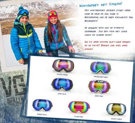 Winterpret met Snowgoggles van Vingino!