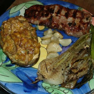Red Shank Smoked Pork Sirloin & Bacon Chipotle Twice Baked Potatoes.