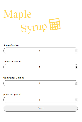 maple syrup calculator
