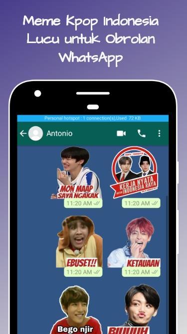 Kpop Meme Sticker Indonesia 1 5 0 Apk Download Com Memekpopers