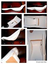 """Photo: Axel Pfannmüller / kleiner Trick wie man eine Sitz- Schale im Bereich des Hinterteils des """"Piloten"""" vertiefen kann, wenn sie vom Hersteller des Modells zu flach gearbeitet wurde."""