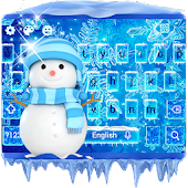 Ice Frozen Keyboard Theme