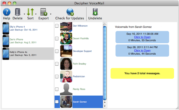 save iPhone voicemail to iTunes