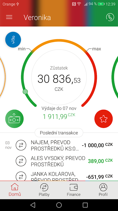 mBank CZ- screenshot