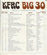 Photo: KFRC Big 30 July 13, 1966