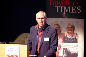 Photo: Simon Elmes announcing the winners of the Charles Parker Prize 2014