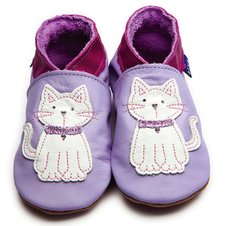 Inch Blue Soft Sole Leather Shoes - Meeow Lilac (6-12 months)