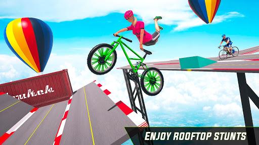BMX Cycle Stunt Game: Mega Ramp Bicycle Racing  captures d'écran 2