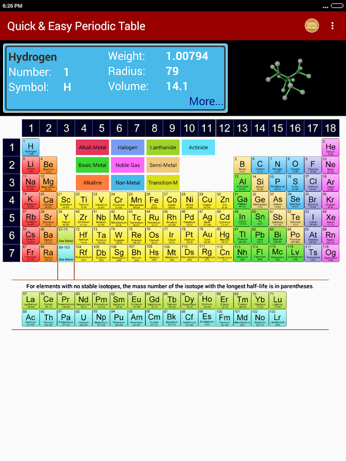 Periodic table of chemical elements chemistry app android apps periodic table of chemical elements chemistry app screenshot urtaz Gallery