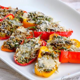 Mediterranean Quinoa Stuffed Mini Peppers