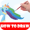 How to draw rainbow ponyy