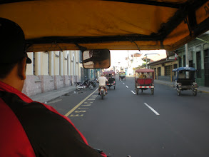 Photo: Cruisin' in a mototaxi. Virtually no traffic laws obeyed by the hundreds of these things constantly moving around Iquitos, and yet there is less congestion and fewer traffic jams than anywhere else I've been in Peru. I think it's just the lack of cars (everything has to be boated or flown in because there are no roads connecting Iquitos to any other city).