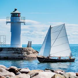 Sailing by Tony Mortyr - Transportation Boats ( nature, sailing, water, boat )