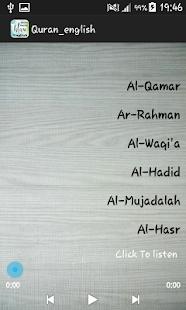 Quran english mp3 - náhled